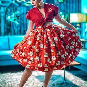 The Oblong Box Shop MCM Maoi Gathered Skirt